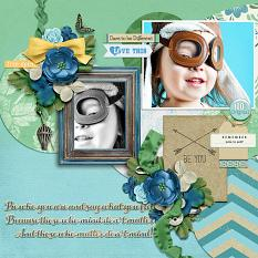 """Be You"" digital scrapbook layout by Joslyn Bexley-Cavanaugh"