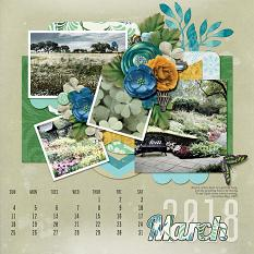March Calendar Page by Joslyn Bexley-Cavanaugh