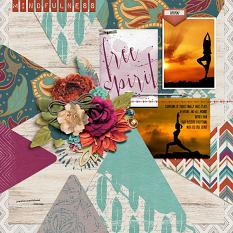"""Mindfulness"" digital scrapbook layout by Joslyn Bexley-Cavanaugh"