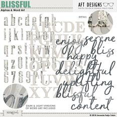 Blissful Alpha & Word Art by AFT Designs - Amanda Fraijo-Tobin
