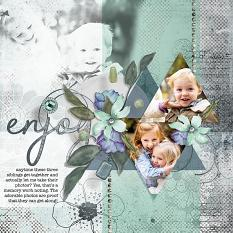 """Enjoy: by AFT Designs - Amanda Fraijo-Tobin #scrapbook #memorybook #photoediting"