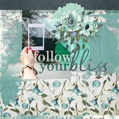 Follow Your Bliss by AFT Designs - Amanda Fraijo-Tobin #scrapbook #memorybook #photoediting