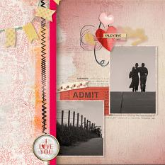 Layout by Marie Hoorne using My sweet Valentina Collection by Aftermidnight Design
