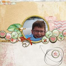 Layout by Debby Leonard using My sweet Valentina Element Mini 2 by Aftermidnight Design