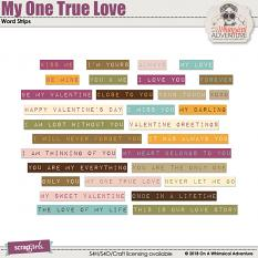 My One True Love Word Strips by On A Whimsical Adventure