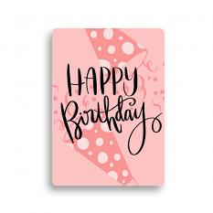 Happy Birthday Card made using Celebrate Embellishment Templates set 2