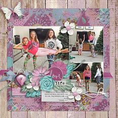 Layout by Joanna using Hope Springs New - Collection Biggie