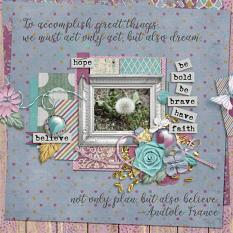 Layout by Penny using Hope Springs New - Collection Biggie
