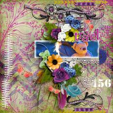 Travel by Dentelle Scrap CT member for geekgirl designs