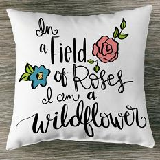 Pillow sample created using Bloom quotes and images templates