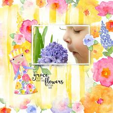 Scrapbook Layout using She Wore Flowers Custom Layer Styles