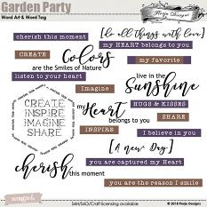 Garden Party Time Word Art and Word Tag by Florju Designs