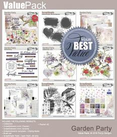 layout using Garden Party Time Paper Biggie by florju designs