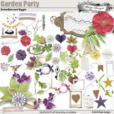 Garden Party Time Embellishment Biggie by Florju designs