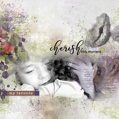 layout using Garden Party Time Collection Biggie by florju designs