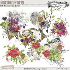 Garden Party Time Embellishment Mini: Cluster by florju designs