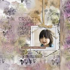 layout using ScrapSimple Tools - Styles:Garden Party Time by florju designs