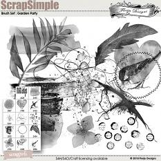 Brush Set: Mix Brush Garden Party Tiime by florju designs