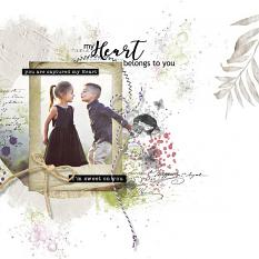 layout using Brush Set: Mix Brush Garden Party Tiime by florju designs