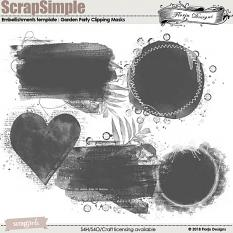 ScrapSimple Embellishment template : Garden Party Time Clipping Mask by florju designs
