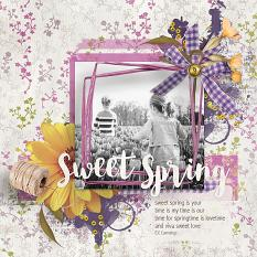Sweet Spring #digiscrap layout by Amanda Fraijo-Tobin - AFT Designs using Faded #spring mini kit @Oscraps.com