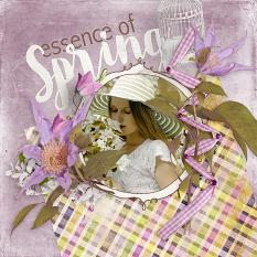 Essence Of Spring #digiscrap layout by Amanda Fraijo-Tobin - AFT Designs using Faded #spring mini kit @Oscraps.com
