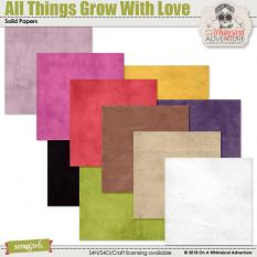 All Things Grow With Love Solids by On A Whimsical Adventure