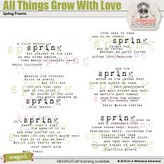 All Things Grow With Love Poems by On A Whimsical Adventure