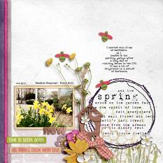 Digital layout using Value Pack: All Things Grow With Love by On A Whimsical Adventure