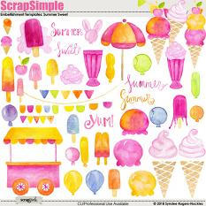 Summer Sweet Embellishment templates