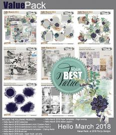 Value pack Hello March 2018 by florju designs