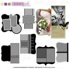 Coordinates with ScrapSimple Embellishment Templates: Photo Brackets