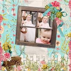 """Spring Day"" Digital Scrapbooking Layout By Andrea Hutton"