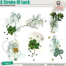 A Stroke Of Luck Mixed Media Clusters by On A Whimsical Adventure