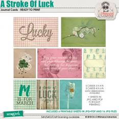 A Stroke Of Luck Journal Cards by On A Whimsical Adventure