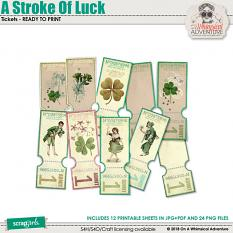 A Stroke Of Luck Tickets by On A Whimsical Adventure