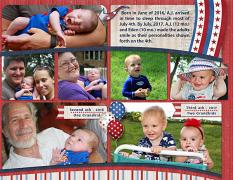 """Three 4ths"", right side, digital layout features ScrapSimple Digital Layout Templates: 8.5x22 Scrap It Monthly 4 Series 1"