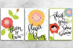 Cards created using Flower Friends Embellishment Templates