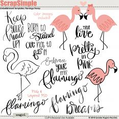 Flaming Frenzy Embellishment Templates