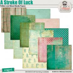 A Stroke Of Luck Pattern Papers by On A Whimsical Adventure