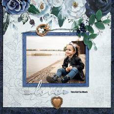 """Love This Girl So Much"" digital scrapbook layout by Darryl Beers"