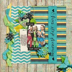 Layout by Joanna using Brighter Days - Wood-grains