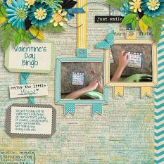 Layout by Penny using Brighter Days - Collection Biggie