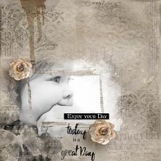 layout using ScrapSimple Paper Templates: Enjoy Your Day 1 by florju designs