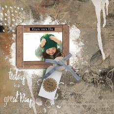 layout using ScrapSimple Paper Templates: Enjoy Your Day 2 by florju designs