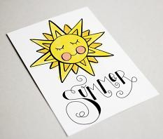 Card uses Summertime Sentiments Embellishment Templates