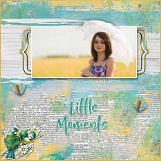 """Little Moments"" digital scrapbook layout by Judy Webster"