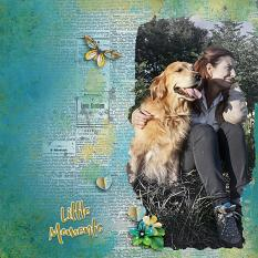 """Little Moments"" digital scrapbook layout by Geraldine Touitou"