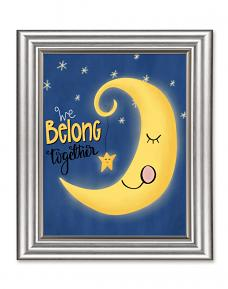 Framed art created using We Belong Together Moon Printable Art