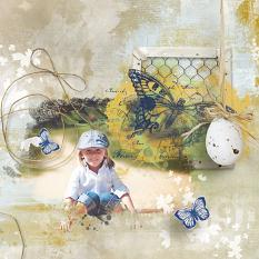 layout using  Value Pack: Happy Easter by florju designs